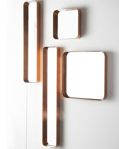NetDeco — Kelly Copper Rectangular Mirror, Medium H:76cm Collection of copper mirrors for hallway