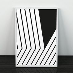 Black lines art, Lines print, Modern poster, Abstract art, Mid century modern, Minimalist print, Black and white, Monochrome, Modernism art