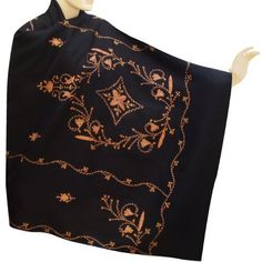 Cashmere Wool Shawls Kashmiri Embroidered From India - sshwl0192rr Royal Kraft. $99.00. Save 22%!