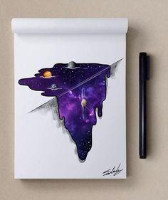Мохамед Салах (Muhammed Salah) е графичен дизайнер, илюстратор, карикатурист от Кайро, Египет, който представяме със серията му от рисунки, в които главен герой е Вселената - Вселената като Космос; Вселената в човека; Вселената като символ на самия живот.: