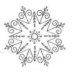 hand Embroidery-snowflakes - Google Search