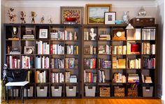 artful expedit projects pinterest ikea hackers ikea expedit and cup hooks - Ikea Bookshelves Expedit