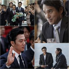 """Kim Rae Won and Cho Jae Hyun Acting Battle to Begin this December 2014 >>> Kim Rae Won and Cho Jae Hyun previously worked on a TV drama """"Snowman"""" in 2003 with Gong Hyo Jin. After 11 years they will display their acting prowess together again on the upcoming SBS drama """"Punch.""""  This will be a clash of great acting with the two top actors on board. #kimraewon #punch #kimraewoncomeback"""