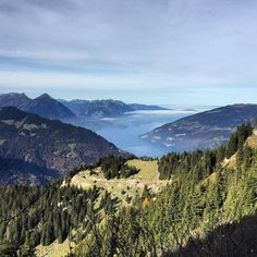 Amazing view from Schynige Platte to Lake Thun.