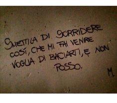 """frasidolcisweet: """"Smettila di sorridere così, che mi fai venire voglia di baciarti, e non posso. """" Italian Quotes, Just You And Me, Book Wall, Love Phrases, Love Life, True Stories, Sentences, Life Lessons, Favorite Quotes"""