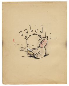 The little elephant writes a Love letter…