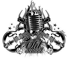 Tattoo Old School Girl Rockabilly Ink 48 Ideas Old Tattoos, Music Tattoos, Trendy Tattoos, Rockabilly Art, Rockabilly Fashion, Tatuagem Hot Rod, Tattoo Musica, Rock N Roll Tattoo, Hot Rod Tattoo