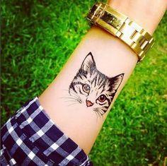 Un portrait de chat éphémère #CatTattoo
