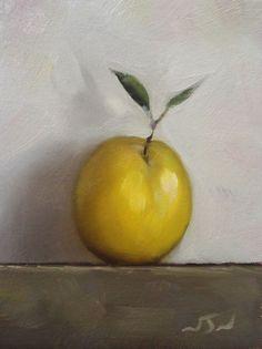 Original Oil Painting - Apricot - Contemporary Still Life Art - Nelson