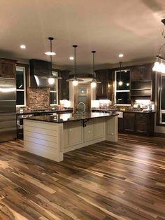 Prefinished Solid Brazilian Macchiato Pecan Wood Hardwood Flooring Sample - Dream home design - Home Decor Kitchen, Interior Design Kitchen, New Kitchen, Home Kitchens, Kitchen Ideas, Copper Kitchen, Natural Kitchen, Luxury Kitchens, Decorating Kitchen