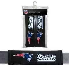 NFL New England Patriots Seat Belt Pad 2 Pack