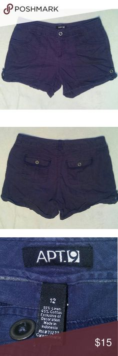 Apt. 9 Blue Shorts ~Size 12 ~Apt. 9 Shorts  ~Blue ~Gently worn, no rips, tears or flaws. Apt. 9 Shorts
