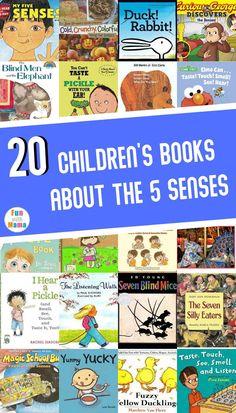 20 Children's Books about the 5 Senses Kindergarten Books, Preschool Books, Kids Learning Activities, Free Activities, Best Toddler Books, Best Children Books, Childrens Books, Senses Preschool, My Five Senses