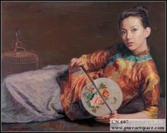 Beautiful Chinese oil paintings,hand-painted lady portrait painting canvas, high grade reproduction #Affiliate