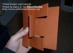 8.5X11 tutorial of tri-fold shutter card