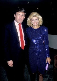 Donald Trump and Ivana Trump during Passion Perfume Promotion at Sotheby's in New York City New York United States