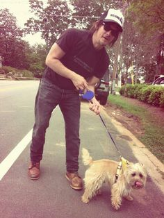 TINKY!!!!!!!!!!!!!!!!! I'm probably the only Norman Reedus female fan who's more excited/interested in the puppy than him LOL squishy!!!!!!!!!!