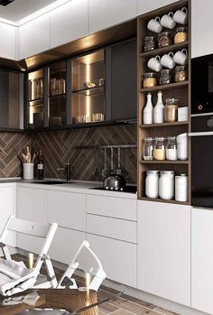 modern luxury kitchen design ideas that will inspire you 5 Kitchen Room Design, Kitchen Sets, Modern Kitchen Design, Home Decor Kitchen, Interior Design Kitchen, Kitchen Furniture, New Kitchen, Home Kitchens, Küchen Design