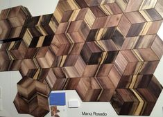 Marxz Rosado Rios's polygonal wood and textile laminate floors that look like modern parquet flooring but are flexible.