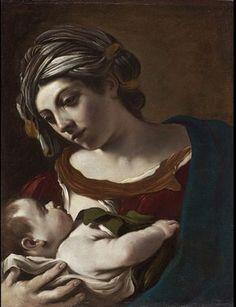 Giovanni Francesco Barbieri - Virgin and Child c 1621