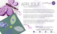 """El """"Appliqué"""" es otra técnica de costura para crear nuevos diseños y texturas sobre la tela. ¿La conocían?"""