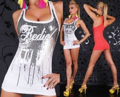 Sexy Women's Redial Luxury Tank Top Long T-Shirt 2 colors White Red #RedialLuxury #TankCami