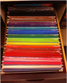 Fabulously First!: Organizing Construction Paper