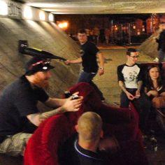 Hoovering underpasses.
