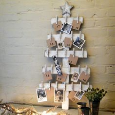 Advent Calendar Tree Wooden Christmas Decor Holiday White Washed Rustic Distressed on Etsy, $79.00