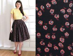 50s Full Skirt / 1950's Skirt di Coldfish su Etsy, $45.00