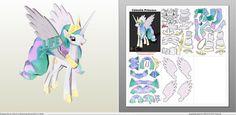 Papercraft .pdo file template for My little Pony - Princess Celestia.