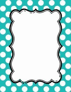 Free Polka Dot Border Templates in 16 Colors Frame Border Design, Boarder Designs, Page Borders Design, Printable Border, Printable Frames, Printable Labels, Border Templates, Frame Template, Borders For Paper