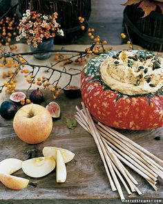 Creamy Winter Squash Dip makes a gorgeous Thanksgiving appetizer, and can be prepared a day ahead