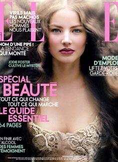 elle french, 1990's, 90s fashion, elle cover, beauty, magazine - french , CREDITS - model: ruslana korshunova, photo: stephane sednaoui, hair: nicolas jurnjack, make up: frank b  http://instagram.com/nicolasjurnjack