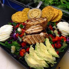 """Its #lunchtime let's go to @cravefoodtruckstaug  Happy Friday  It's that kinda """"put some chips on your salad kinda day""""  Come on out n let us whip you up something yummy  #staug #staugustine #eatlocal #staugfoodies #florida #crave #wellness #flaglercollege #healthyfood #salad #wrap #smoothie #crave #vegan #paleo #glutenfree #eatclean #freshfood #health #workout #healthyliving #yummy #organic #bulldog #yoga #floridashistoriccoast #fitness #nom @staugustinebuzz"""