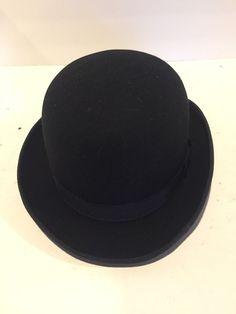 f8baec170e6 Vintage Henschel Hat Black Wool Derby Hat Large  fashion  clothing  shoes   accessories