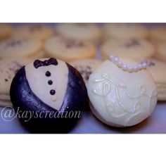 Bride and Groom Macarons