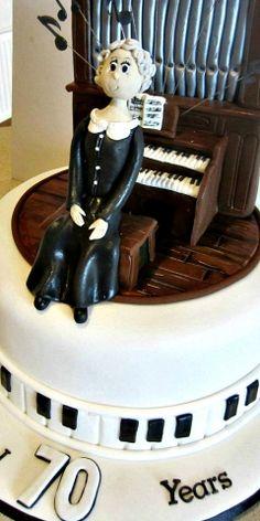 70th Piano Organ Birthday Cake