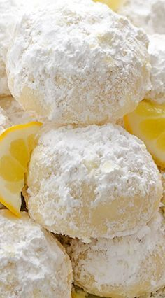 Meyer Lemon Greek Butter Cookies {Kourabiedes} are easy, classic Greek cookies with a refreshing citrus twist. They're perfect for your holiday baking! Meyer Lemon Recipes, Lemon Dessert Recipes, Baking Recipes, Delicious Desserts, Greek Desserts, Cookie Desserts, Greek Recipes, Cookie Recipes, Greek Cookies