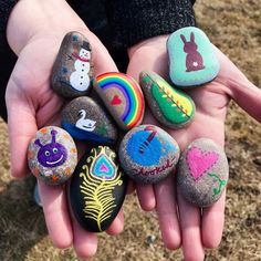 How to Paint Rocks: The Ultimate Guide | FaveCrafts.com Easy Preschool Crafts, Yarn Crafts For Kids, Preschool Art Activities, Recycled Crafts Kids, Paper Plate Crafts For Kids, Kindergarten Art Projects, Christmas Crafts For Toddlers, Valentine Crafts For Kids, Summer Crafts For Kids