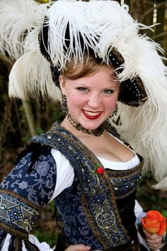 She's a cutie-Texas Renaissance Festival - German Joust Maiden -Ren Faire take on a Saxony gown. Mode Renaissance, Renaissance Fair Costume, Medieval Costume, Renaissance Fashion, Renaissance Clothing, Medieval Dress, Historical Costume, Historical Clothing, Elizabethan Costume