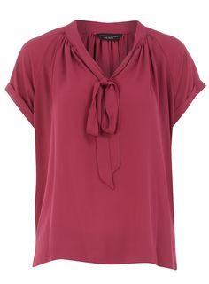 Raspberry pussybow blouse        Price: £26.00