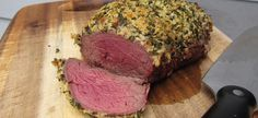 More Herbs, Less Salt. Here's a lower sodium recipe with plenty of herbs - Laura's Lean Beef Herbed-wrapped Tenderloin Grilling Recipes, Wine Recipes, Beef Recipes, Great Recipes, Favorite Recipes, Beef Tenderloin Recipes, Grilled Roast, Low Sodium Recipes, Food Dishes