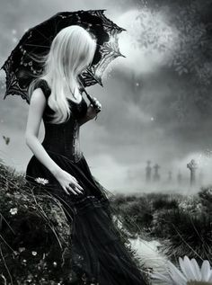 black and white photography, woman, female, lake, clouds, moon, goth, blond, dress, fashion, beautiful, fantasy art, mythical, spirit.