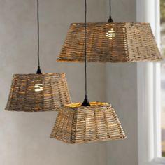 Handwoven Rattan Pendant Light Collection