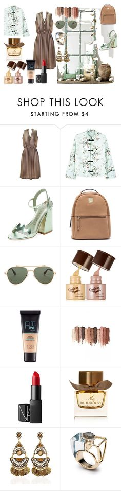 """""""Happy days"""" by wiamfashionstyle ❤ liked on Polyvore featuring MANGO, Ivy Kirzhner, Givenchy, Maybelline, tarte, NARS Cosmetics and Burberry"""