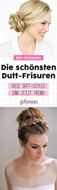From Topknot to Macaron Buns: 100 bun hairstyles that are now Von Topknot bis Macaron Buns: 100 Duttfrisuren, die jetzt den Ton angeben! Dutt hairstyles: these are the 100 most beautiful hairstyles! Fast Easy Hairstyles, Bun Hairstyles, Wedding Hairstyles, Curly Hair Styles, Natural Hair Styles, Diy Wedding Hair, Wedding Makeup, Top Knot, Hair Designs