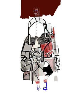 The Fashion Architect: Second year womenswear student Ernesto Naranjo shows at Madrid Fashion Week | Fashion, Fashion Show, Students, The White Series | 1 Granary #fashion #illustration