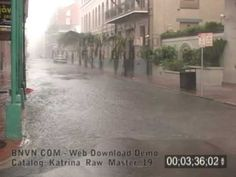 8/29/2005 Hurricane Katrina, New Orleans, LA - French Quarter Video. Raw Master - 19