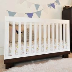 Modern Babyletto Modo 3-in-1 Two-Tone Baby Crib M6701QW FREE SHIPPING. I want this crib!
